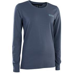ION DriRelease Maglietta S_Logo a maniche lunghe Donna, blu